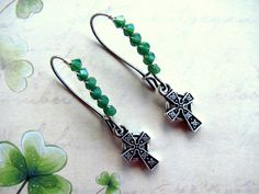 #Celtic #Cross #Earrings #handmade #thecraftstar $16.00