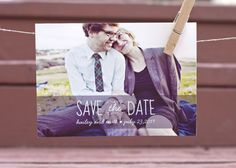 Fun and simple save the date postcard