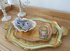 Italian florentine trays... Mercato Italian Antiques had these!