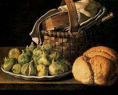 Luis Egidio Melendez, Still Life with Figs, 18th century