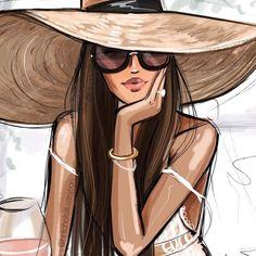 New wallpaper fofos meninas ideas Fashion Sketches, Art Sketches, Art Drawings, Image Swag, Illustration Art, Illustrations, Fashion Illustration Hair, Girly, Fashion Wall Art