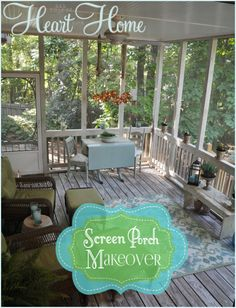 Screen Porch Makeover! Lots of projects in this makeover!