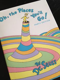 "AMAZING idea.... ""Oh, the Places You'll Go!"" - Starting in preschool and every year on up, give this book to your child's teacher at the end of the school year. Have the teacher write a little note to your child. Then when your child graduates, give it as a gift. It will be so fun to see all the little notes."