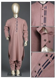 Aizaz Zafar Wash N Wear Formal Kameez Shalwar for Boys - 224 Khaki African Wear Styles For Men, African Shirts For Men, African Dresses Men, African Clothing For Men, Gents Kurta Design, Boys Kurta Design, Nigerian Men Fashion, Indian Men Fashion, Emo Fashion