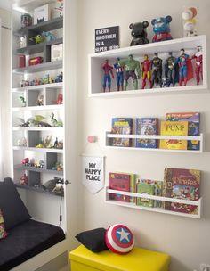 Boy Toddler Bedroom, Kids Bedroom, Boys Room Decor, Boy Room, Bedroom Themes, Bedroom Decor, Superhero Boys Room, Kids Room Furniture, Kawaii Room