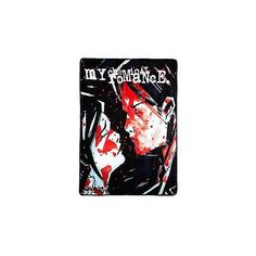 My Chemical Romance Three Cheers Throw Blanket ❤ liked on Polyvore featuring home, bed & bath, bedding, blankets, polyester blanket, polyester bedding and polyester throw