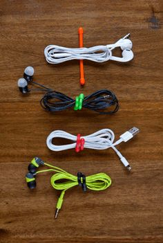 Here's the ultimate soluton for keeping small cords organized. Nite Ize Gear Ties have a bendable wire interior with a soft rubber exterior that makes them super versatile. Keep computer cords, headphones and ear buds bundled and untangled with these reusable gear ties. There are thousands of other uses, too.