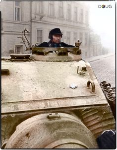 Panzer VI Tiger II of the schwere Panzer-Abteilung 503 photographed in Budapest, Hungary, October 1944, during the Unternehmen Panzerfaust.