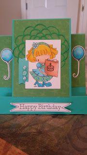 samantha  designs: Happy Birthday Center Step Card