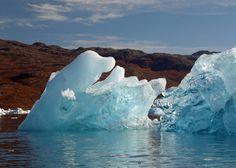 Greenland fjord ice