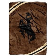 Wyoming Cowboys NCAA Royal Plush Raschel Blanket (Force Series) (60x80)