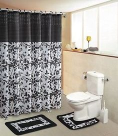 34 best shower curtains images bath rugs bathroom decor sets rh pinterest com