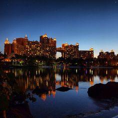 The Royal Towers by night. Atlantis Resort, Paradise Island - Bahamas http://www.atlantis.com/default.aspx