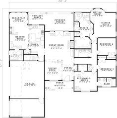 1000 images about dream house plans on pinterest On ranch house plans with bedrooms together