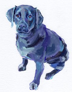 i have always wondered how to paint a solid black dog.... and here is my inspiration! time to paint chloe!! :)