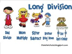 Long Division... LOVE it!!! Downloadable freebies to teach long division.