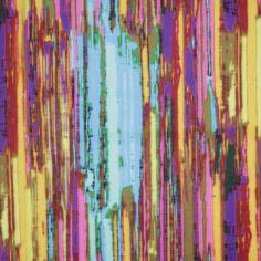 Turkish Caribbean Striated Stripes Upholstery Velvet Fabric by the Yard | Mood Fabrics