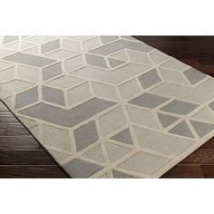 Wrought Studio Vaughan Hand-Tufted Wool Medium Gray Area Rug Rug Size: Rectangle x Beige Area Rugs, Wool Area Rugs, Hand Tufted Rugs, Carpet Stains, Cool Rugs, Rugs Online, Brown And Grey, Gray, Colorful Rugs