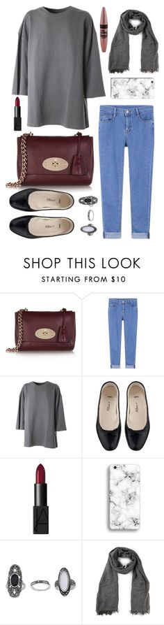 """""""#92"""" by hazelinhamid ❤ liked on Polyvore featuring Mulberry, adidas Originals, A.P.C., NARS Cosmetics, Topshop, Vince and Maybelline"""