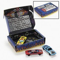 Race car box invite