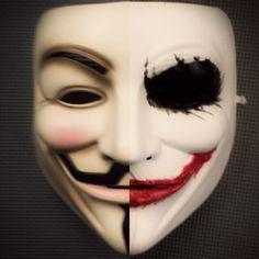 How I Face Painted V for Vendetta Mask to a Dark Knight Joker!