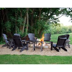 KEY FEATURES - Ships FREE in 7 to 10 Business Days - Adirondack Chair Dimensions x x - Seat Height 29 - Maintenance free Poly Lumber Furniture - Made with stainless steel fasteners - 20 Fire Pit Backyard, Backyard Patio, Backyard Landscaping, Backyard Ideas, Firepit Ideas, Landscaping Ideas, Outdoor Fire, Outdoor Living, Fire Pit Area