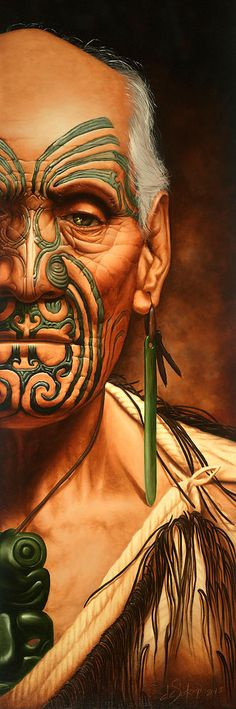 "Oil on canvas painting by deSotogi entitled ""Reminiscence"" Maori Face Tattoo, Polynesian Tattoo Designs, Winter Songs, New Zealand Art, Nz Art, Maori Art, Hobbit Hole, Polynesian Culture, Fine Art Paper"