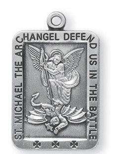 """St. Michael Sterling Medal  13/16"""""""