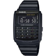 Casio Men's Digital Calculator Vintage Black Resin Bracelet Watch... (2,990 PHP) ❤ liked on Polyvore featuring men's fashion, men's jewelry, men's watches, black, mens watch bracelet, mens digital watches, casio mens watches, mens bracelet watch and vintage mens watches