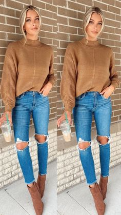 Trendy Fall Outfits, Style Outfits, Winter Fashion Outfits, Mode Outfits, Fall Winter Outfits, Cute Casual Outfits, Autumn Fashion, Women Fall Outfits, Fall Outfit Ideas