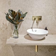 Bricmate Norrvange Granitkeramik Matt mm - Lilly is Love How To Purl Knit, Amazing Bathrooms, Bathroom Inspiration, Granite, Designer, Sweet Home, Sink, New Homes, Beige