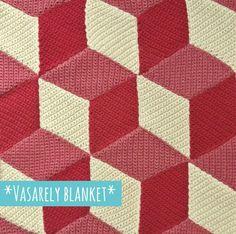 Isabelle Kessedjian: Un plaid à la manière de Vasarely, ça vous tente ?