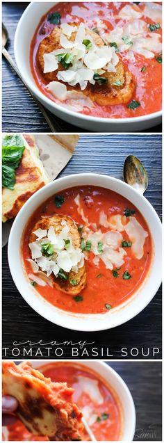 20-Minute Creamy Tomato Basil Soup