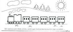 Vlak-vybarvování dle diktátu | Výtvarná výchova