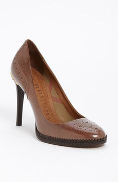 Burberry Brogue Pump | Nordstrom,Love ...But I'm in no shape to wear heels that high....But, it's good therapy to look.