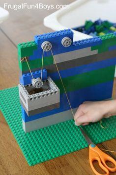 LEGO Pulleys Engineering Building Challenge for Kids