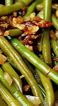 Steakhouse Green Beans ❊