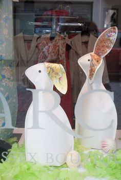 Easter Window displays at Darcey, Lewes and Heathfield. Follow us on Twitter @Darcey Feldman Sussex Boutiques