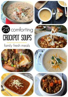 Here are 25 Comforting Crockpot Soups and Stews that have gotten two big thumbs up from family and friends. Most of these soups can be adapted to stove top