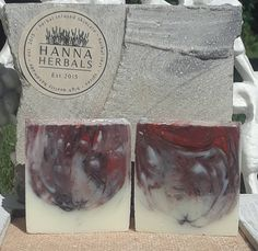Dogwood Ginger Blossom Cold Processed Soap - Red Mica swirl - Brown Mica Swirl - 4 ounce bars by HannaHerbals on Etsy