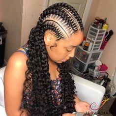 feed in braids - feed in braids ; feed in braids cornrows ; feed in braids hairstyles ; feed in braids ponytail ; feed in braids updo ; feed in braids cornrows black women ; feed in braids hairstyles cornrows ; feed in braids with curly ends Braided Cornrow Hairstyles, Feed In Braids Hairstyles, Black Girl Braided Hairstyles, Baddie Hairstyles, Protective Hairstyles, Girl Hairstyles, Protective Styles, Braids Cornrows, Feed In Braids Ponytail