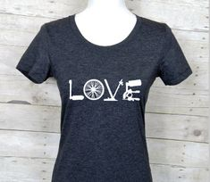 women's cycling love shirtcyling is lifeI by ShaynasCreationsShop