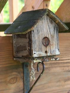Vintage Bird House stuffed with bedding for babies - maybe too much!