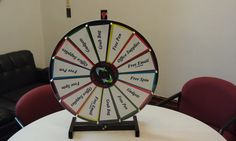 Our Fall 2014 Open House Prize Wheel