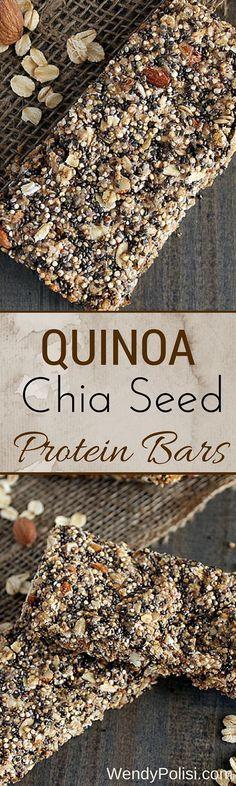 Quinoa Chia Seed Protein Bars                                                                                                                                                      More