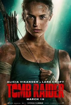 After two movies starring Angelina Jolie, it's time for a new Lara Croft Tomb Raider with Alicia Vikander in the lead role. Lara Croft (Alicia Vikander) is a passionate, independent girl and a daughter of an eccentric adventurer (Dominic West) wh Hd Movies Online, 2018 Movies, Top Movies, Watch Movies, Imdb Movies, Movies Free, Rent Movies, Film Watch, Tomb Raider Full Movie