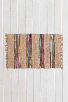 Magical Thinking Striped Leather Rug - Urban Outfitters