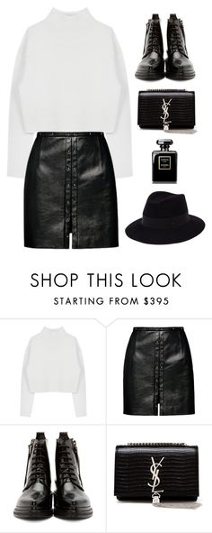 """#786"" by anna-od ❤ liked on Polyvore featuring Dion Lee, Magda Butrym, Acne Studios, Yves Saint Laurent and Maison Michel"