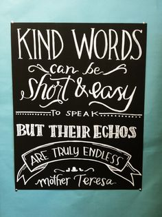 Mother Teresa quote for classroom wall - Twinkle & Toast