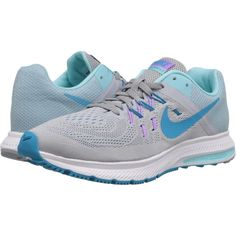Nike Zoom Winflo 2 (Wolf Grey/Copa/Fuchsia Glow/Blue Lagoon) Women's... ($72) ❤ liked on Polyvore featuring shoes, athletic shoes, grey, lightweight shoes, gray running shoes, athletic running shoes, blue running shoes and nike